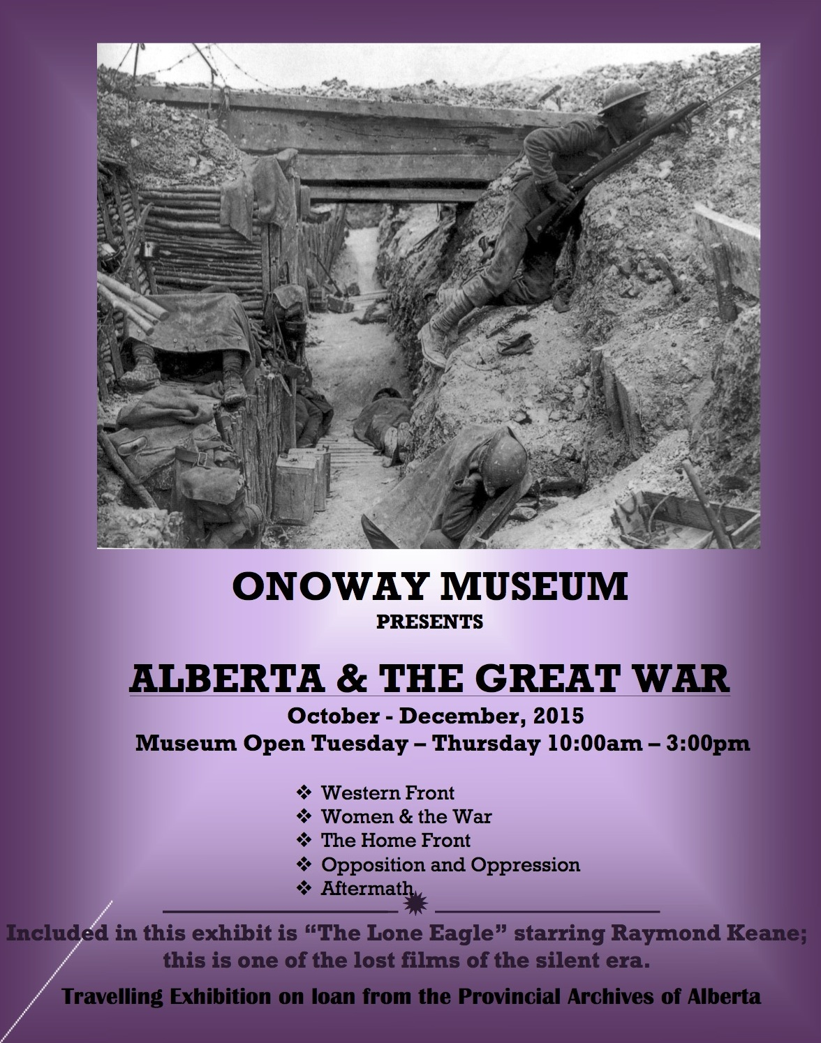 Alberta the Great War exhibit