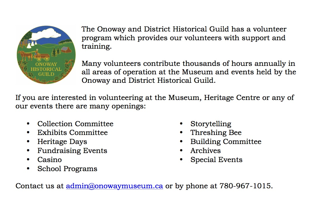 volunteer at the museum